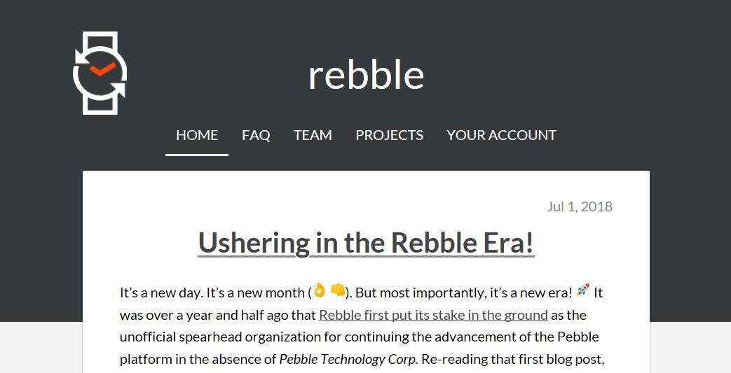 rebble.ioトップページ